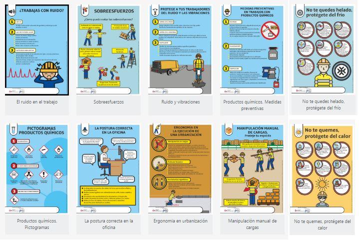 Carteles informativos para riesgos laborales