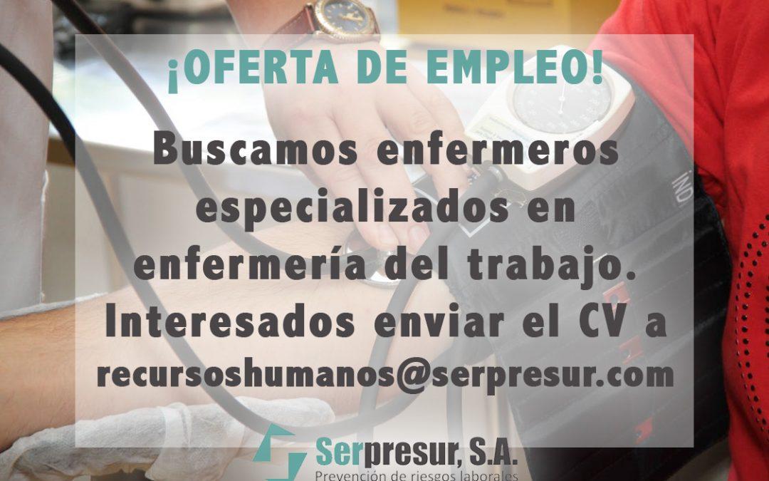 Oferta de empleo para enfermeros del trabajo