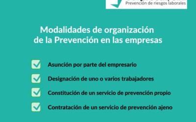 Modalidades de organización de la Prevención en las empresas
